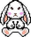 Historieta del conejo del arte del pixel del vector libre illustration
