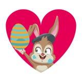 Historieta del conejo del artista stock de ilustración