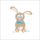 Historieta del conejo en el griterío blanco ilustración del vector