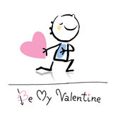 Historieta del día de tarjeta del día de San Valentín ilustración del vector