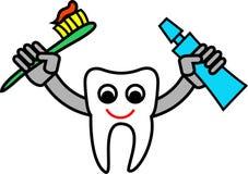 Historieta del diente ilustración del vector