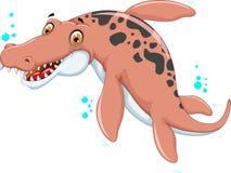 Historieta del dinosaurio de la natación para usted diseño