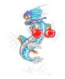 Historieta del dragón del boxeo Imágenes de archivo libres de regalías