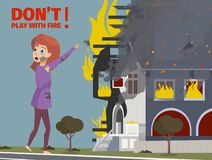 Historieta del ejemplo del vector extintora libre illustration