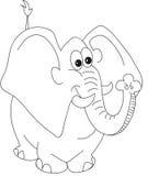 Historieta del elefante stock de ilustración