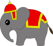 Historieta del elefante de Tailandia Foto de archivo