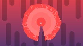 Historieta del espermatozoide que penetra la célula de huevo grande libre illustration