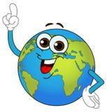 Historieta del globo del mundo ilustración del vector