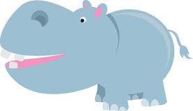 Historieta del hipopótamo stock de ilustración