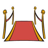 Historieta del icono de la alfombra roja Imagen de archivo