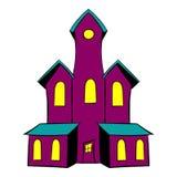 Historieta del icono del castillo stock de ilustración