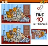 Historieta del juego de las diferencias del hallazgo Imagen de archivo libre de regalías