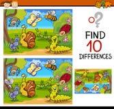 Historieta del juego de las diferencias del hallazgo Imágenes de archivo libres de regalías