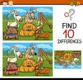 Historieta del juego de las diferencias del hallazgo Imagen de archivo