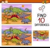 Historieta del juego de las diferencias del hallazgo Fotos de archivo libres de regalías