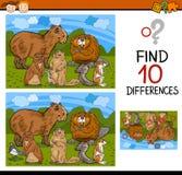Historieta del juego de las diferencias del hallazgo Foto de archivo