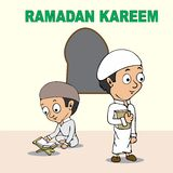 Historieta del kareem del Ramadán Fotografía de archivo libre de regalías