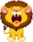 Historieta del león que ruge stock de ilustración