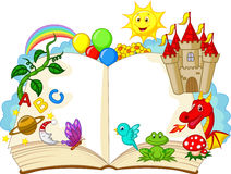 Historieta del libro de la fantasía Imagen de archivo libre de regalías