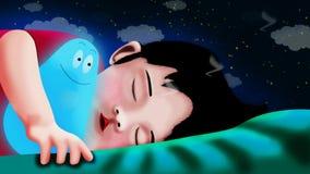 Historieta del muchacho que duerme en dormitorio