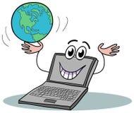 historieta del ordenador portátil Imagenes de archivo