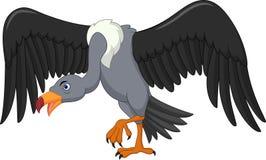 Historieta del pájaro del buitre stock de ilustración