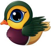 Historieta del pato de mandarín stock de ilustración