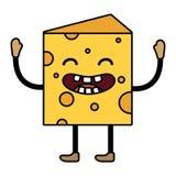Historieta del pedazo del queso stock de ilustración