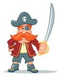 Historieta del pirata stock de ilustración