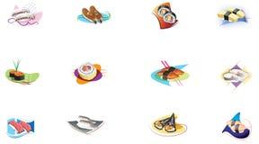 Historieta del sushi ilustración del vector