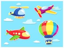 Historieta del transporte aéreo Foto de archivo libre de regalías