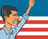 Historieta del vector de Beto O 'Rourke, último candidato al senador de Tejas y candidato posible 2020 a Presidente de los Estado libre illustration