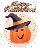 Historieta del vector de la invitación del partido de Halloween Fotos de archivo libres de regalías