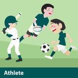 Historieta del vector del deporte atlético Fotografía de archivo libre de regalías