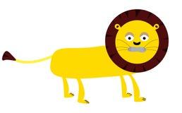 Historieta del vector del león Imágenes de archivo libres de regalías