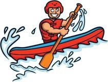 Historieta del viga del agua blanca stock de ilustración