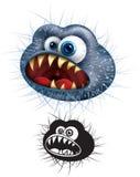 Historieta del virus Foto de archivo libre de regalías