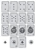 Historieta determinada de la espada de la tarjeta del póker Fotos de archivo libres de regalías