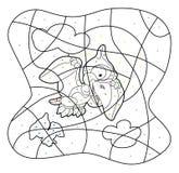 Historieta Dino - código del dibujo Foto de archivo