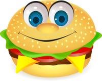 Historieta divertida de la hamburguesa Foto de archivo libre de regalías