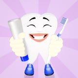 Historieta divertida del diente Fotos de archivo
