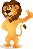 Historieta divertida del león Fotografía de archivo