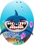 Historieta divertida del tiburón Foto de archivo