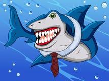 Historieta divertida del tiburón Imagen de archivo libre de regalías