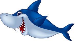 Historieta divertida del tiburón Fotos de archivo