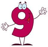 Historieta divertida Numbers-9 Fotografía de archivo