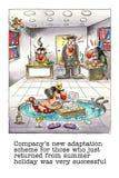 Historieta divertida sobre vida de la oficina ilustración del vector