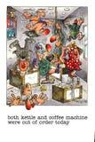 Historieta divertida sobre vida de la oficina stock de ilustración