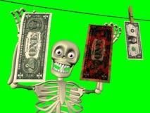 Historieta - el lavar planchar de dinero Imagen de archivo libre de regalías