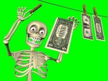 Historieta - el lavar planchar de dinero Fotografía de archivo libre de regalías